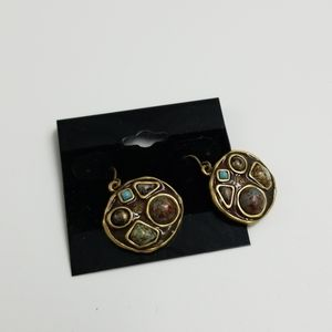 Multi-Stone Dangle Earrings